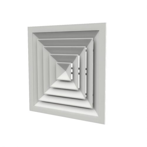 دريچه سقفی چهار طرفه  كلاف پهن آلومينيومی