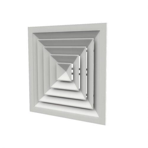 دريچه سقفی چهار طرفه  كلاف دورباز آلومينيومی